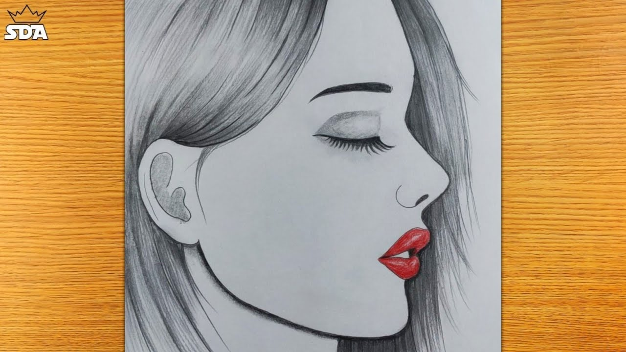 How to draw a Beautiful Girl Very Easy || Girl Drawing Easy || Pencil sketch