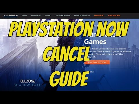 PS4 - How to CANCEL PlayStation Now (PS Now)