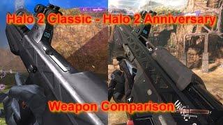 Halo 2 Anniversary Comparison - Weapons