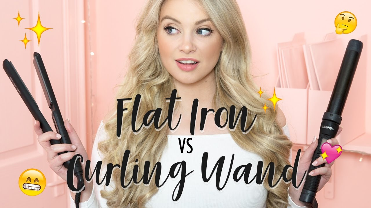 Flat Iron VS Curling Wand Milk Blush YouTube