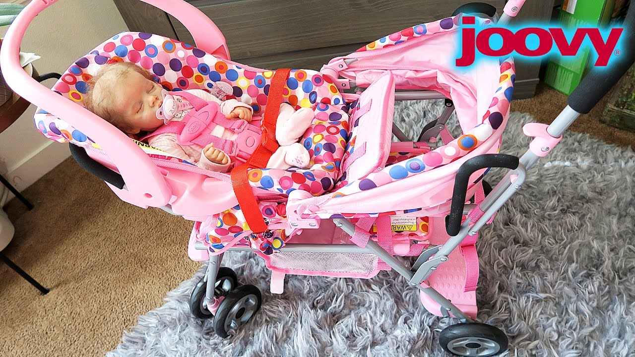 Newborn Baby Seat In Car Joovy Toy Caboose Reborn Baby Doll Stroller Youtube