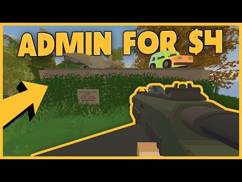 I BOUGHT ADMIN FOR $4 ON THIS MODDED UNTURNED SERVER!