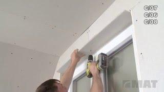 Napojení sádrokartonu k rámu okna profilem typu J