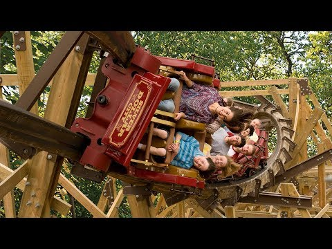 Silver Dollar City's Outlaw Run -- Front Seat Ride!
