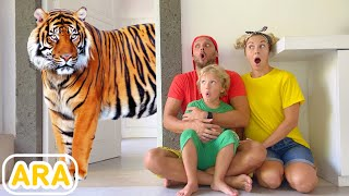 ليف والعائلة - قصة مع الحيوانات / pretend play