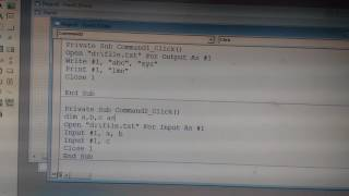Sequential file Handling in Visual Basic 6.0