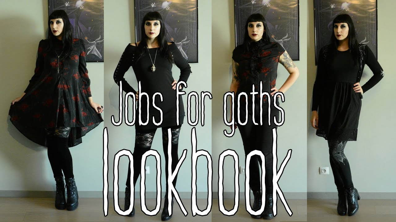 [VIDEO] - Jobs for goths - office goth lookbook (2019) 2
