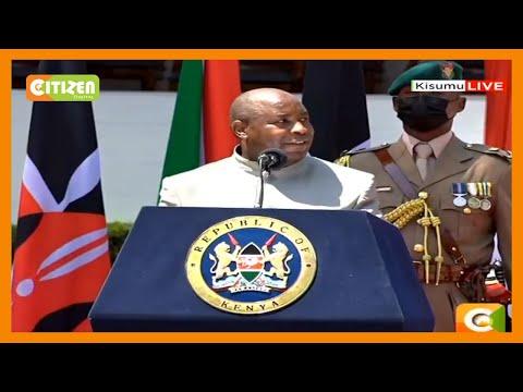 President Ndayishimiye woos Kenyan investors, says Burundi has regained peace,security and stability
