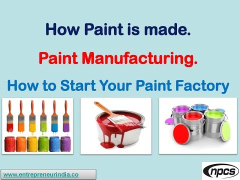 How Paint is made. Paint Manufacturing. How to Start Your Paint Factory