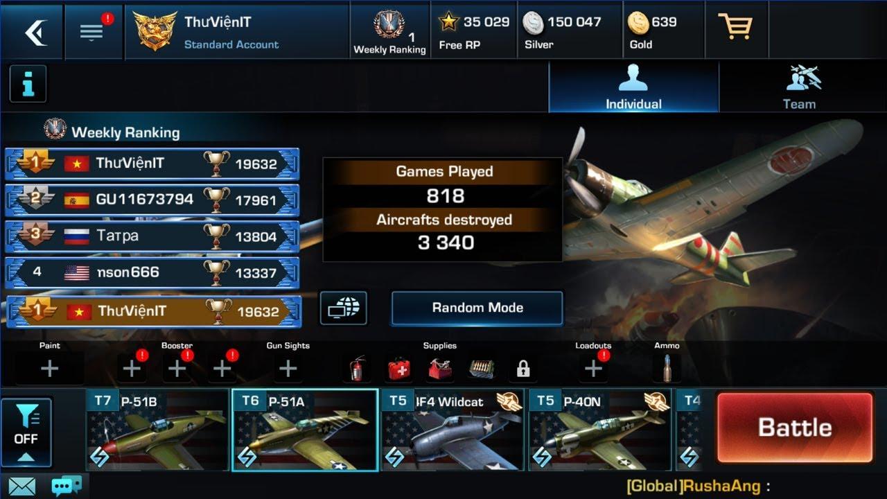 Game máy bay chiến đấu War Wings [Online]