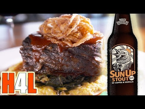 BEER BRAISED SHORT RIBS W Booze Bros SUNUP STOUT (Restaurant Style)