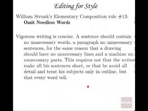 18 Proofreading & Editing