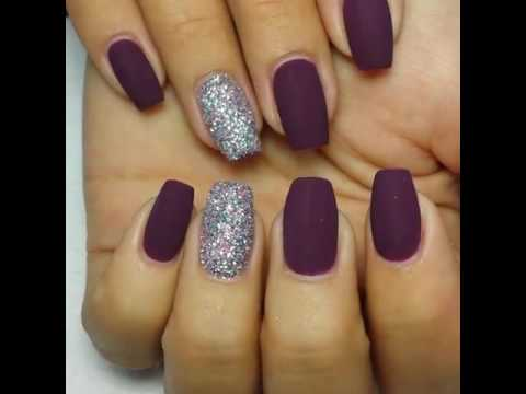 Matte Nails Unghii Mate Sclipici Multicolor Youtube