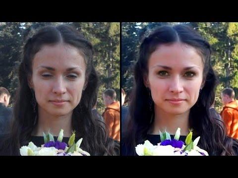 Как открыть глаза в Фотошоп