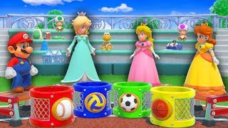 Super Mario Party - Mario vs Rosalina vs Peach vs Daisy - Sort of Fun Minigame