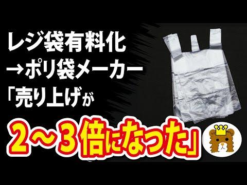 2021/02/23 レジ袋有料化 →ポリ袋メーカー「売り上げが2~3倍になった」