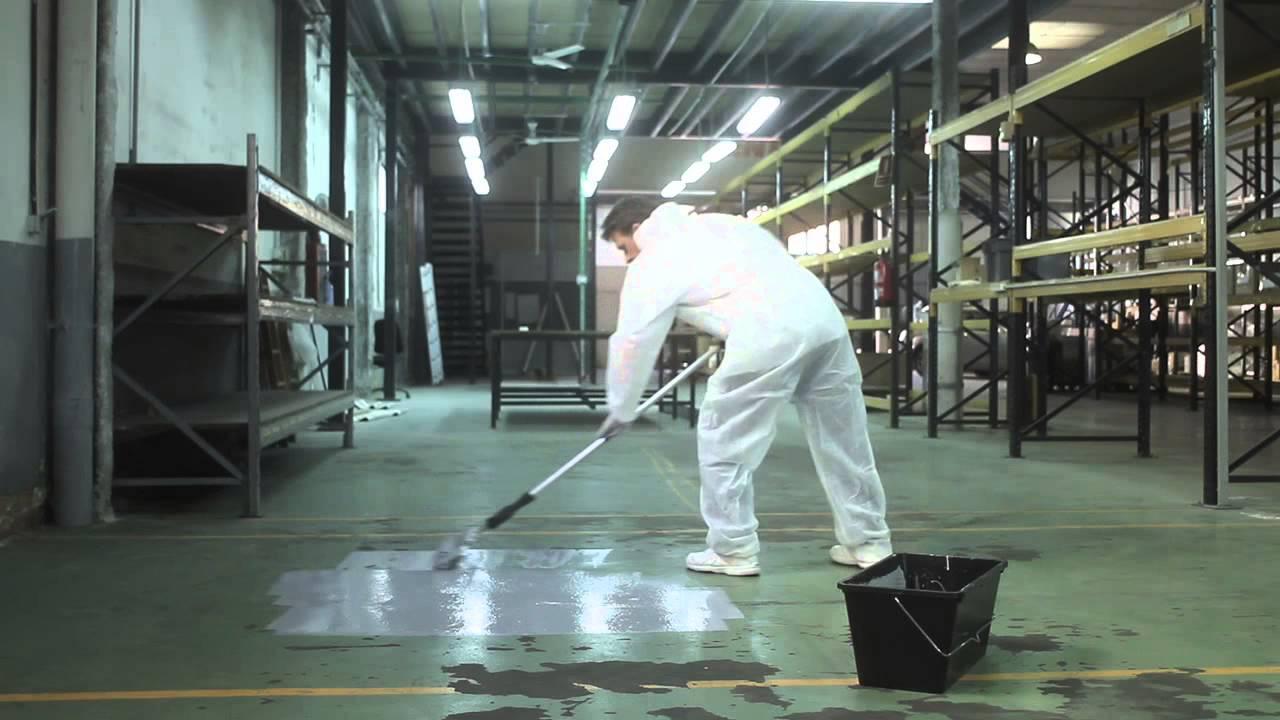 C mo preparar y pintar suelos youtube - Pintura de suelo ...