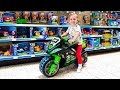 Deni doing Shopping in Toy Store Let`s go shopping song for kids