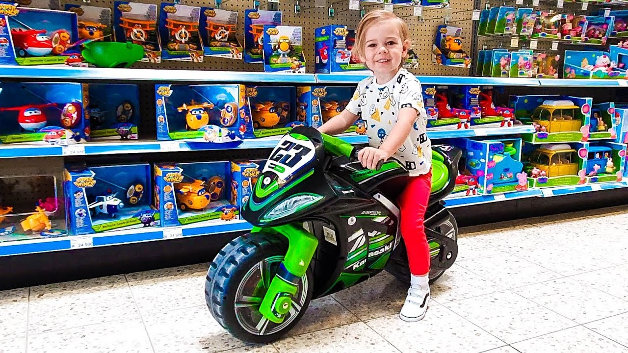 Download Deni doing Shopping in Toy Store Let`s go shopping song for kids