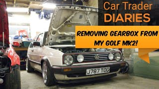 Removing a Gearbox Fŗom *MK2 GOLF* Part 1