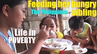 These Poor Filipino Children Want to Eat Delicious Food. Travel to Philippines. Living in Poverty