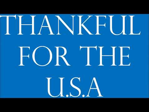 Thankful for the USA