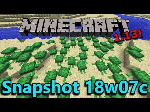 Minecraft 1.13 Snapshot 18w07c- Thrown Item Mechanics, Bubble Column Changes, Minecraft News