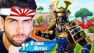 I BOUGHT THE NEW * SKIN SAMURAI AND HAD TO MITAR IN THIS MATCH! -Fortnite: Battle Royale