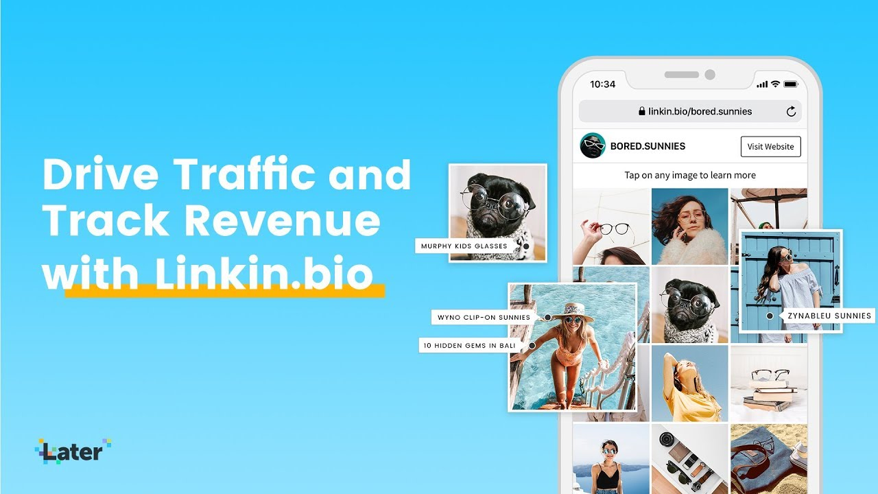 Drive Traffic & Track Revenue from Instagram with Linkin.bio by Later
