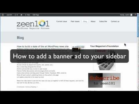 How to add a display/banner ad into your WordPress sidebar - ZEEN101