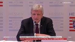 Pressekonferenz der hessischen Landesregierung zur aktuellen Corona-Sachlage am 20.03.20