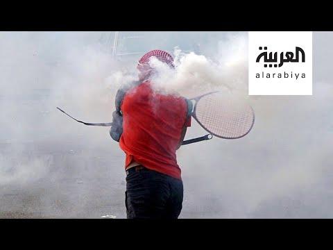 تفاعلكم | لبنانيون يتصدون لقنابل الغاز بـ-مضارب التنس-  - 20:58-2020 / 8 / 9