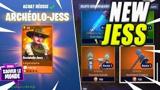 Jess Archeologist - Legendary Double Stream! Fortnite Saving the World