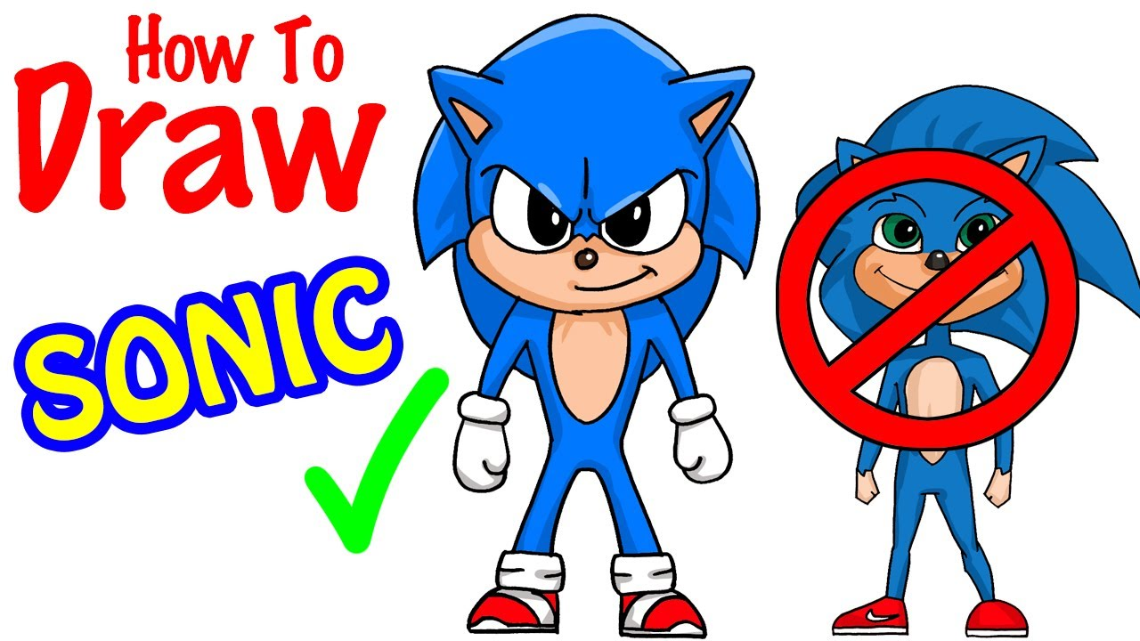 How To Draw Sonic Youtube