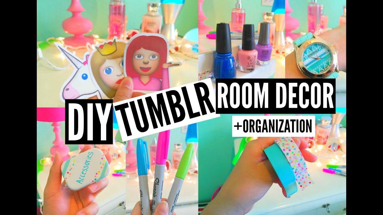 Diy Tumblr Room Decor Organization Eliselife Youtube