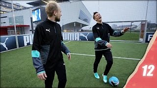 Funny Football Challenges at PUMA Headquarters - Christmas in Unisport 2014 Episode 12