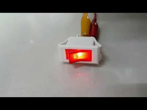 全新料 交流110V/220V  3腳2檔船型開關  白色紅燈帶燈電源開關