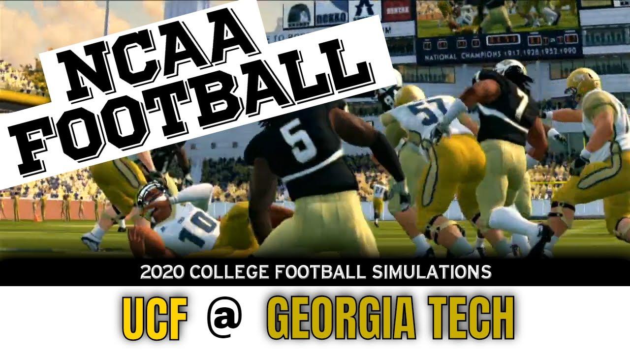 Ucf At Georgia Tech 2020 Ncaa Football Simulation Youtube