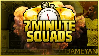 INSANE SEVEN MINUTE SQUADS IF AUBAMEYANG! FIFA 16 ULTIMATE TEAM