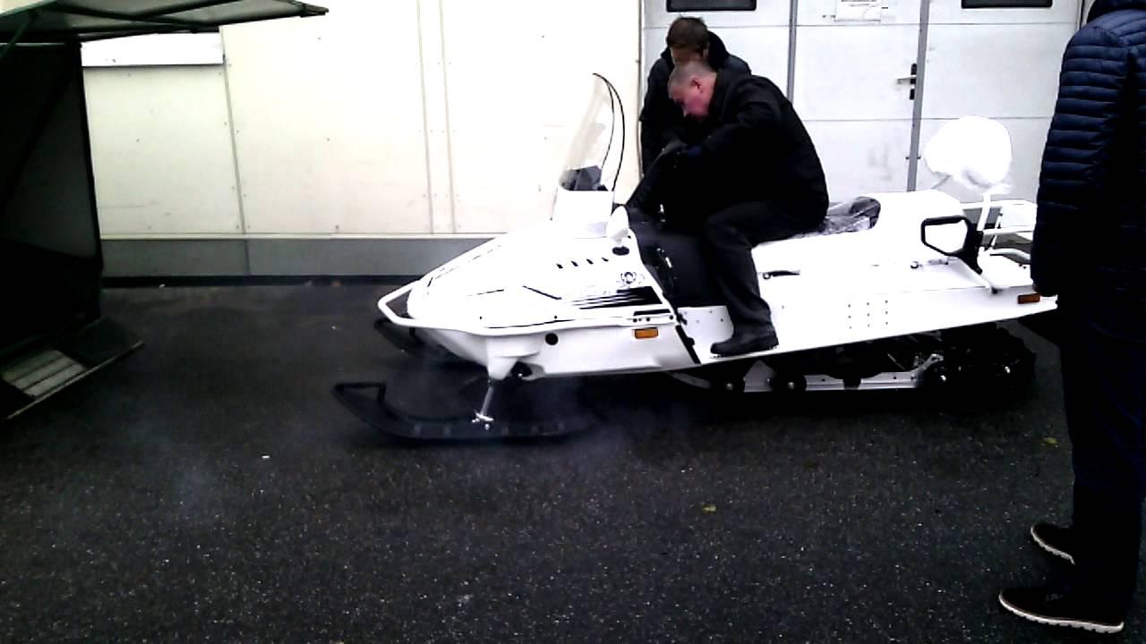 Тест драйв отечественного снегохода БУРАН - YouTube