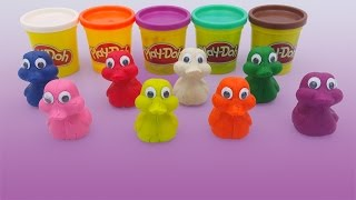 Playdough Duck colors with fun and creative animal mold for children