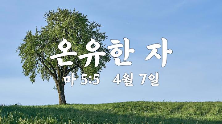 온라인 수요기도회(4/7) 온유한 자(마5:5) 순례자의교회