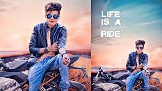 PicsArt Photo Manipulation | Boy Sit on the (KTM) bike PicsArt editing Tutorial