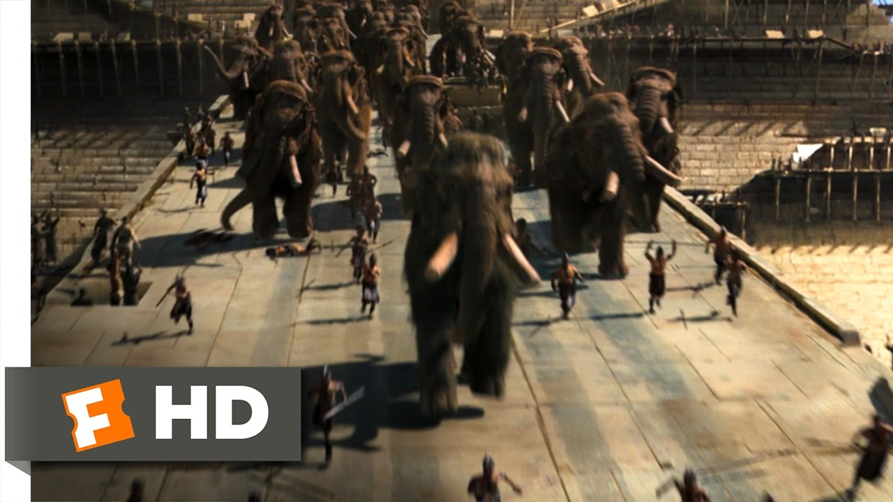 10,000 BC (8/10) Movie CLIP - Mammoth Stampede (2008) HD