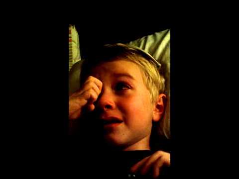 Boy cries over ET movie