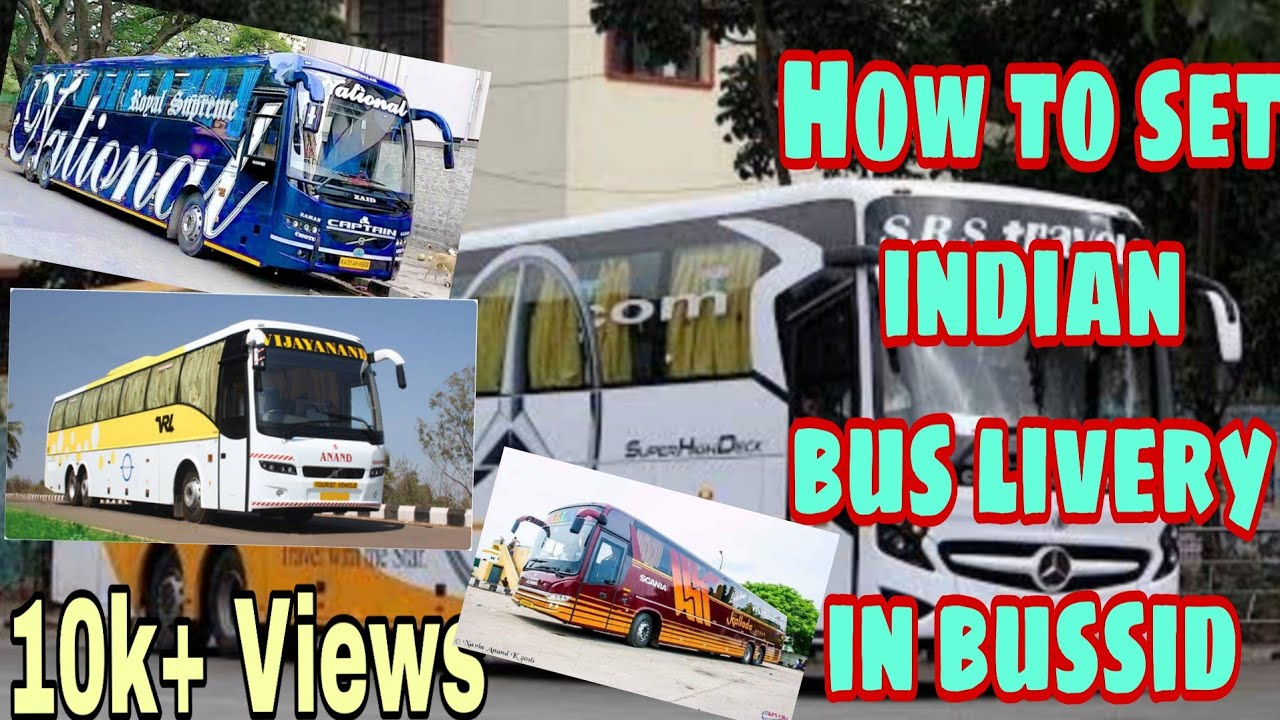 🔴 how to set indian bus livery(skin) & lights (decoration bus) in bus  simulator indonesia game ??