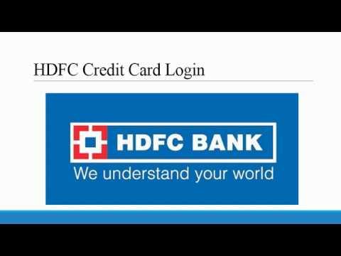 Hdfc credit card login – buzzpls.Com