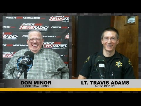 MCSO Lt. Travis Adams and Hood Canal Lion Don Minor - 02/26/18