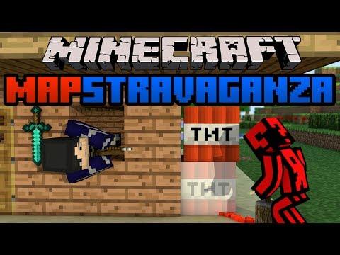 Minecraft Mapstravaganza! Valley Village, Vanguard 1v1, 8 MAN HUNGER GAMES!?!