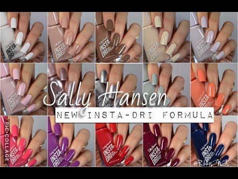 Swatches  16 New Sally Hansen Insta-Dri Shades    Rikki's Nails